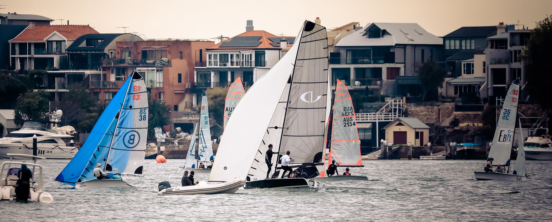 Great Skiff weekend at Hunters Hill Sailing Club