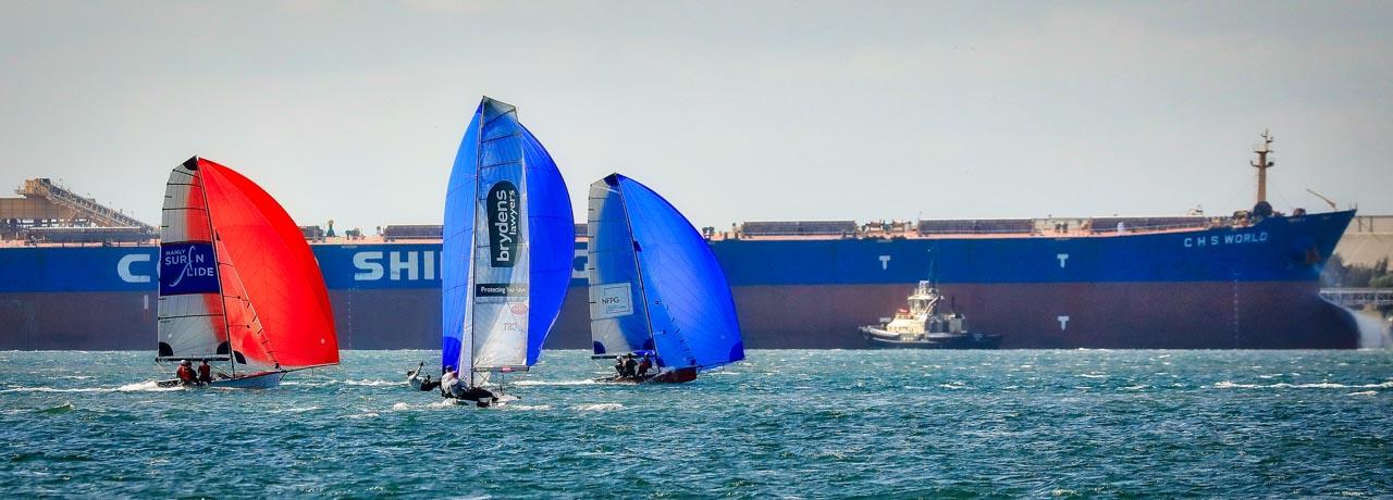Aussie 13ft & 16ft Skiffs, sending it into the regatta season
